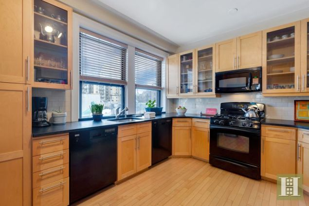 The very large kitchen.