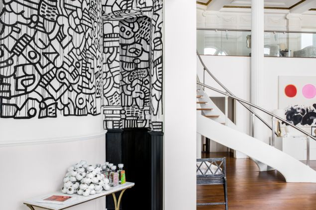 Keith Haring created the mural when he was student at the School of Visual Arts.