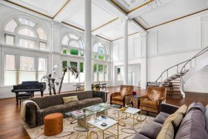 The 8,000-square-foot loft takes up the first three floors of the building.