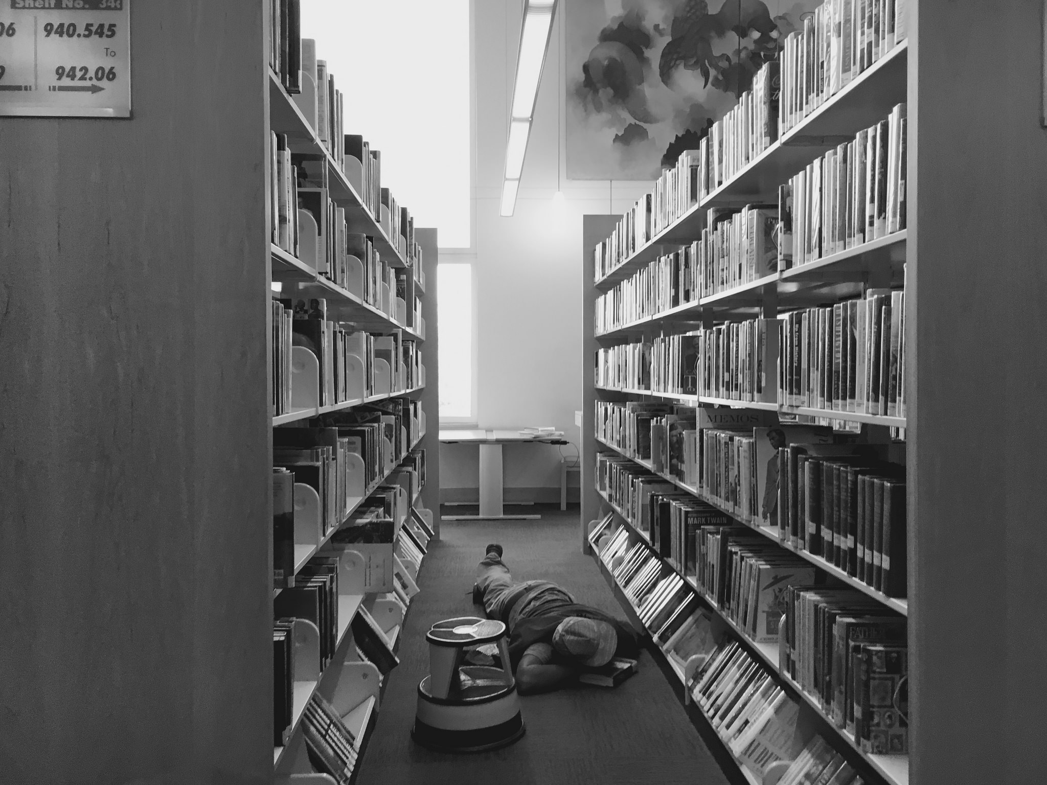 Top productivity hack: sleep in the library.