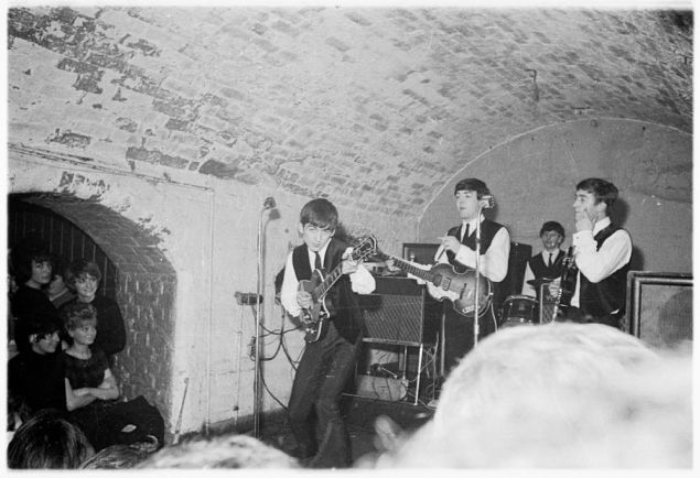 The Beatles playing The Cavern.