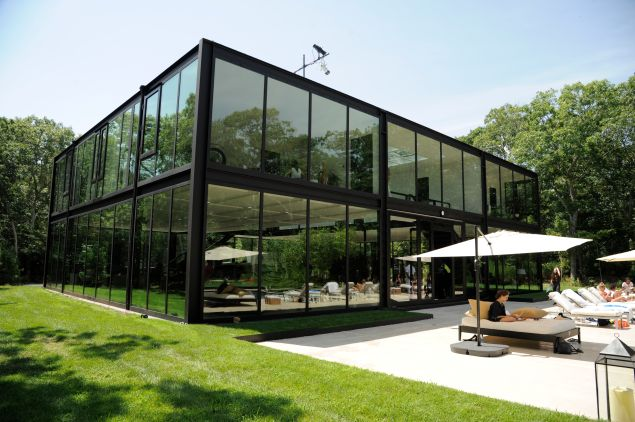 The retreat took place inside this glass house