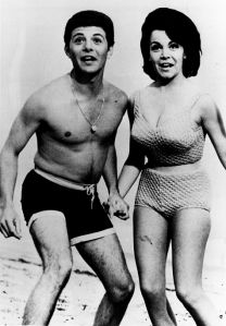 Frankie Avalon and Annette Funicello as they were during the Beach Party era