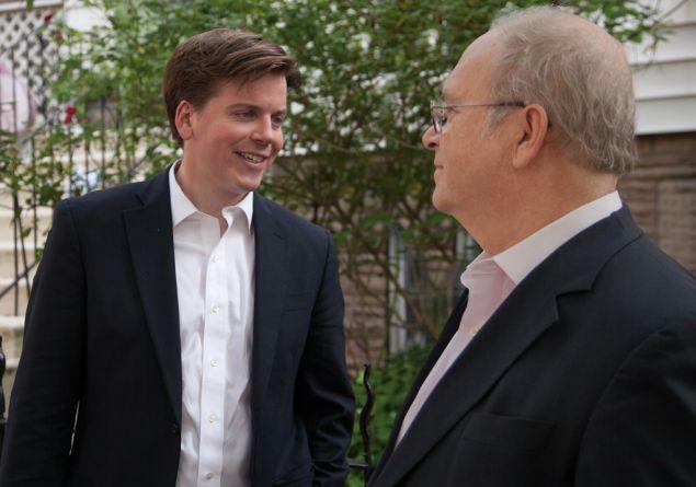 Robert Carroll with Assemblyman James Brennan.