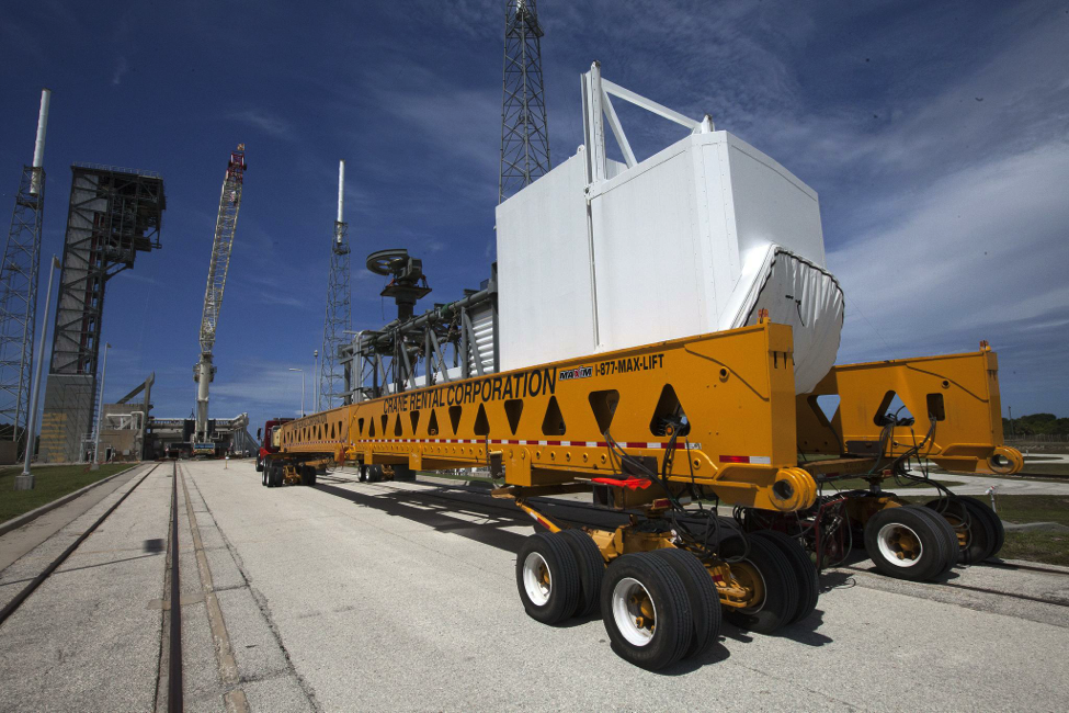 The Commercial Crew Access Arm being delivered to Launch Complex 41