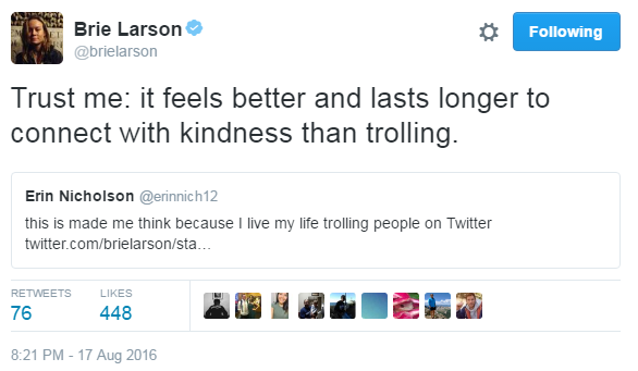 She's got a point.