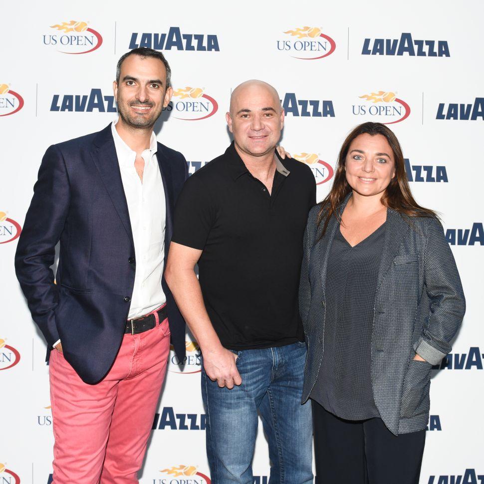Marco Lavazza, Andre Agassi, Francesca Lavazza