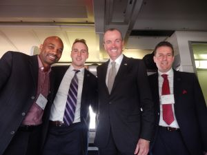 Murphy, second from right, with Mo Butler, Essex County Freeholder Len Luciano, and Essex County Freeholder Brendan Gill.