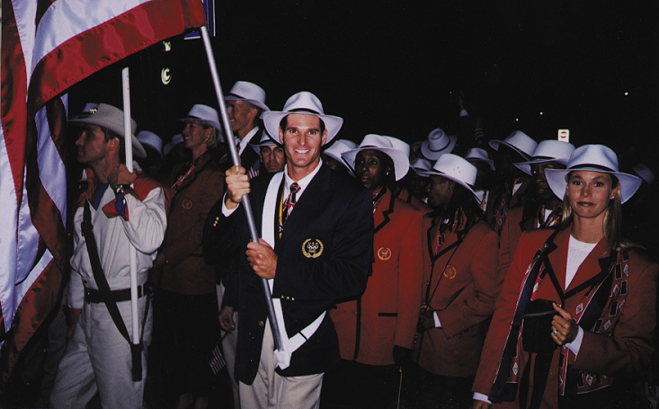 Cliff Meidl served at flag bearer for the Sydney Olympic Games in 2000