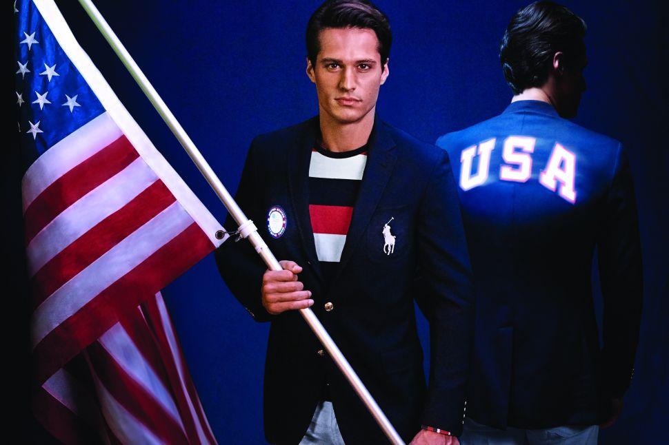 The flag bearer's jacket