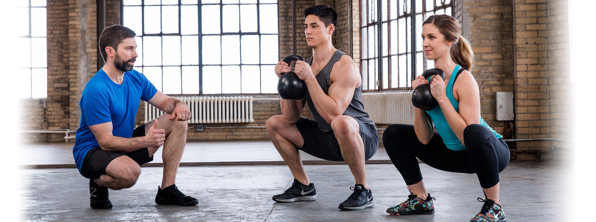 A fitness concierge goes through your work out with you to guarantee perfect form.
