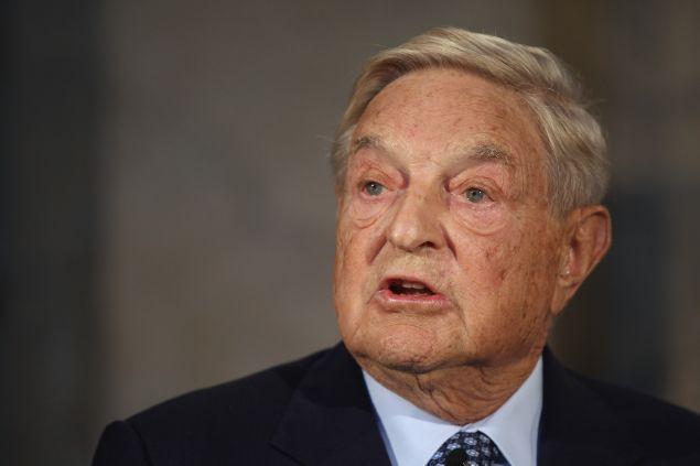 "BERLIN, GERMANY - SEPTEMBER 10: Billionaire investor George Soros speaks on ""The Tragedy of the European Union"""