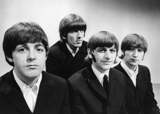 The Beatles at the BBC Television Studios in London before the start of their world tour, June 17, 1966.