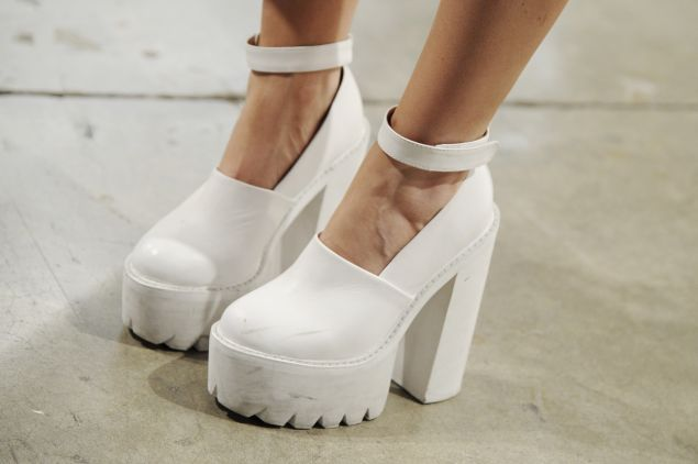 A pair of very practical Jeffrey Campbell shoes.