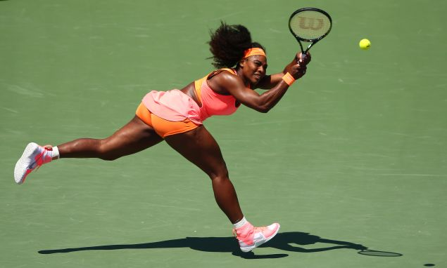 Serena Williams in a colorful getup