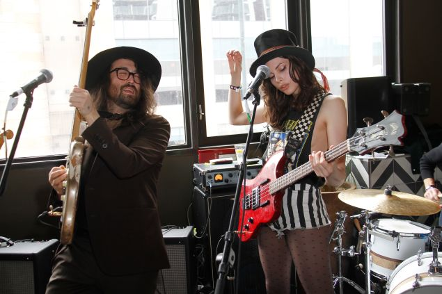 Sean Lennon and Charlotte Kemp Muhl perform with The Ghost of a Saber Tooth Tiger.