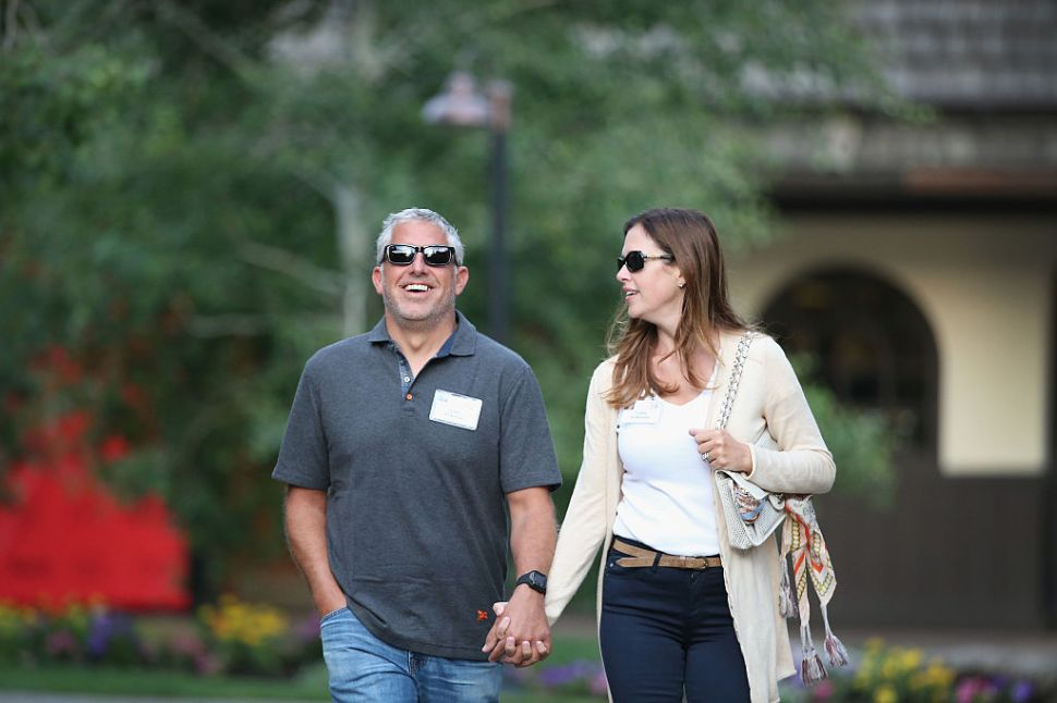 SUN VALLEY, ID - JULY 09: Blake Krikorian, co-founder and former CEO of Sling Media, and his wife Cathy, attend the Allen & Company Sun Valley Conference on July 9, 2015 in Sun Valley, Idaho. Many of the worlds wealthiest and most powerful business people from media, finance, and technology attend the annual week-long conference which is in its 33rd year.