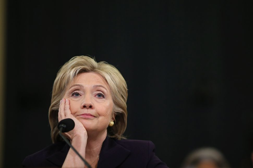 Democratic presidential candidate Hillary Clinton has watched her lead in a closely watched national poll turn to a deficit.