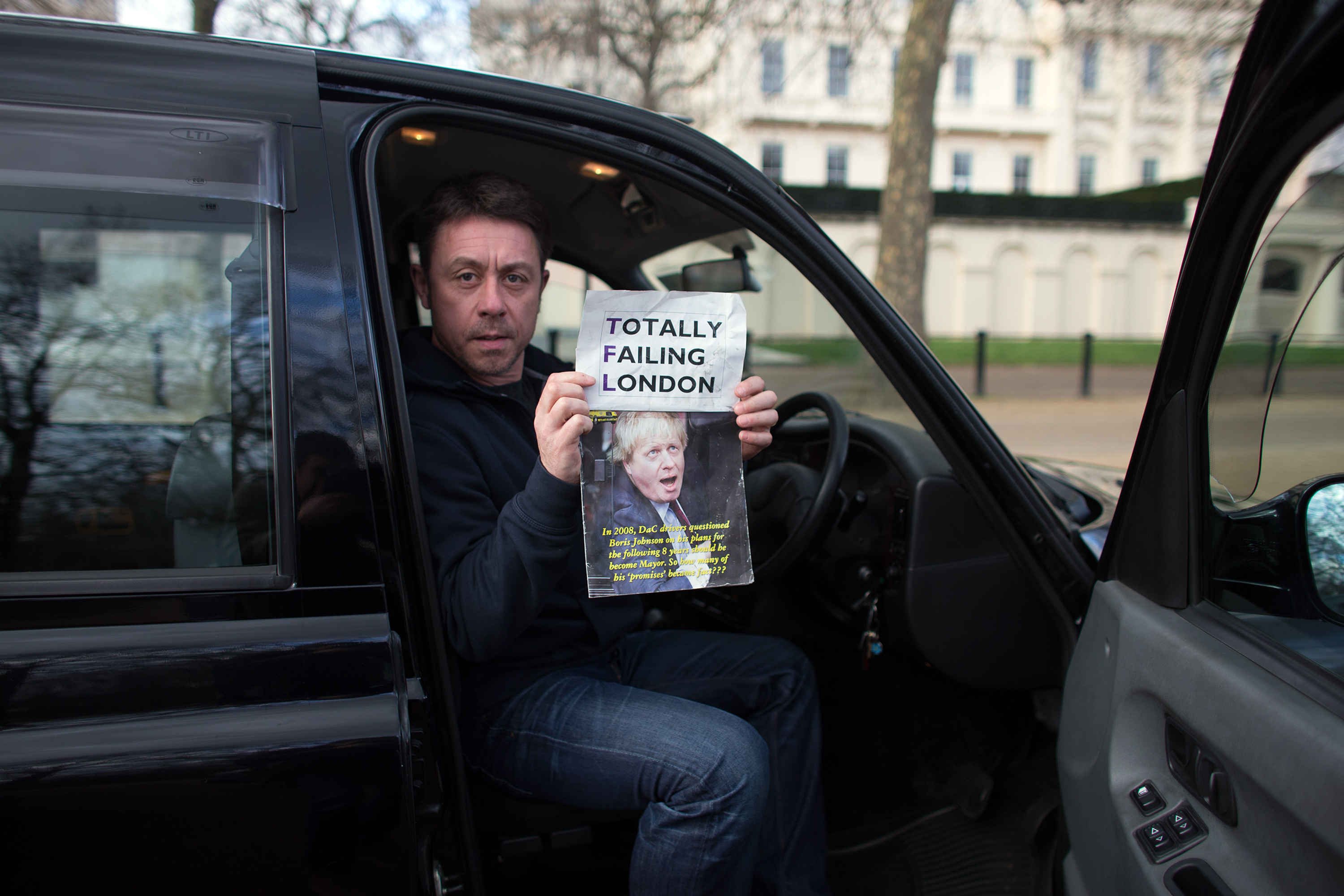 London taxi drivers fear companies such as Uber are pricing them out of the market.
