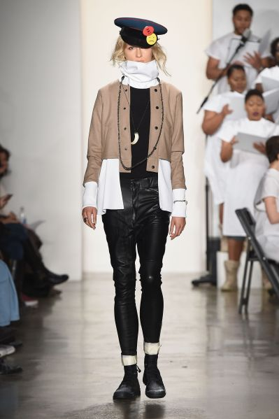 A runway look from Pyer Moss, who will be included in the F.Y.I. @ MADE New York shop