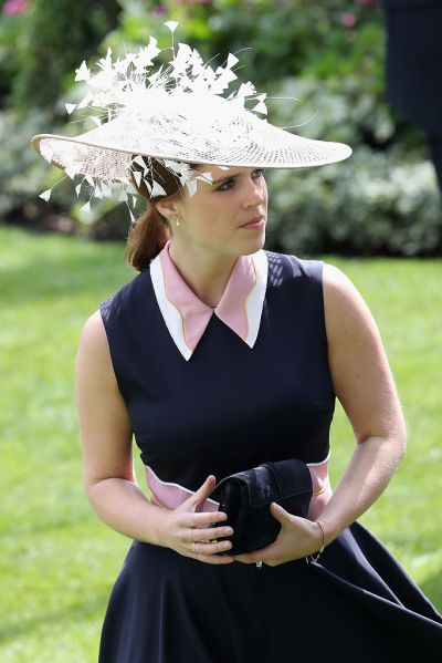Princess Eugenie in one of her famous fascinators.