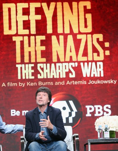 Co-director/executive producer Ken Burns speaks onstage during the 'Defying the Nazis: The Sharps' War' panel July 28, 2016 in Beverly Hills, California.