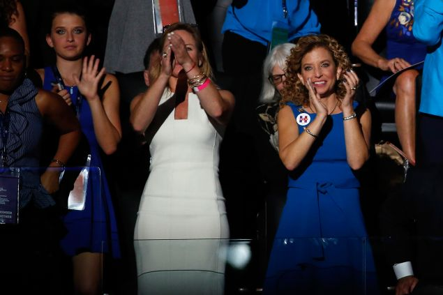 Outgoing chairperson of the Democratic National Committee, Debbie Wasserman Schultz.
