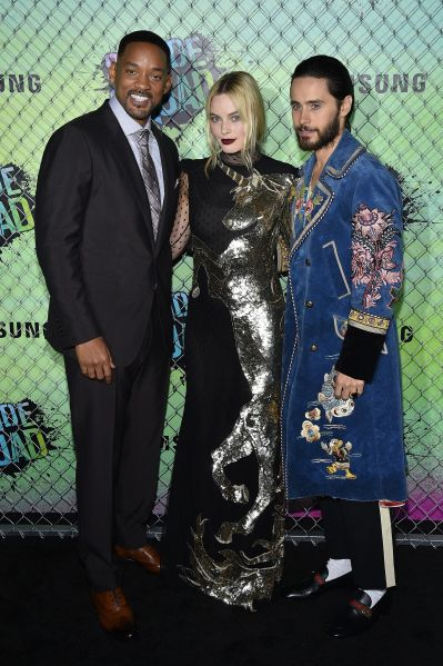 Will Smith, Margot Robbie and Jared Leto