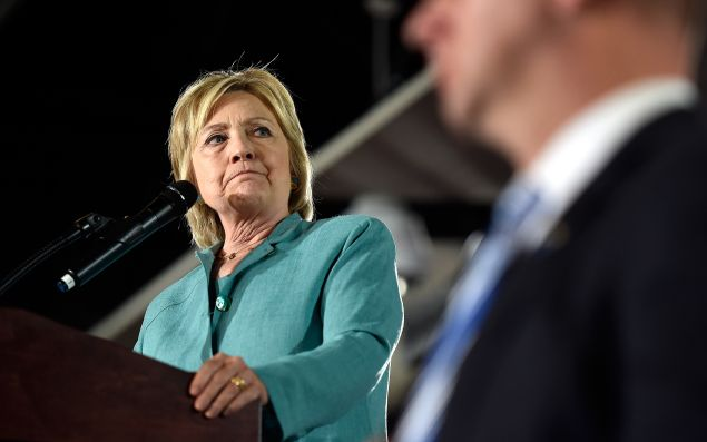 Democratic presidential nominee and former Secretary of State Hillary Clinton.