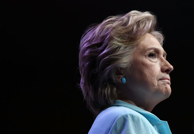 WASHINGTON, DC - AUGUST 05: Democratic presidential nomiee Hillary Clinton addresses the National Association of Black Journalists and the National Association of Hispanic Journalists August 5, 2016 in Washington, DC. Clinton took questions following her remarks.