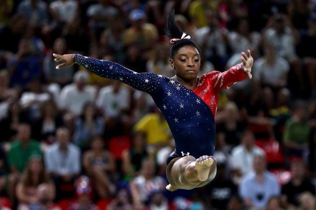 Simone Biles midair