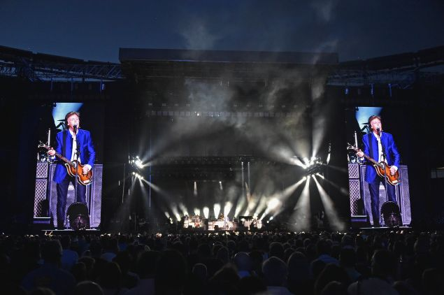 Paul McCartney performing at MetLife Stadium on August 7, 2016 in East Rutherford, New Jersey.
