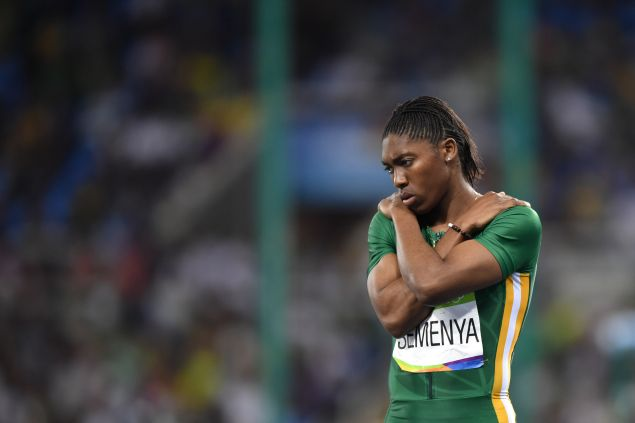 South Africa's Caster Semenya competes in the Women's 800m Semifinal during the athletics event at the Rio 2016 Olympic Games at the Olympic Stadium in Rio de Janeiro on August 18, 2016.