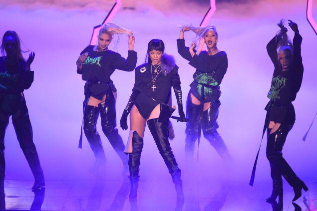 Rihanna in Vetements