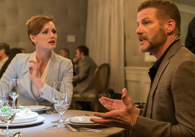 Kerry Bishe and Doug Savant in Halt and Catch Fire.