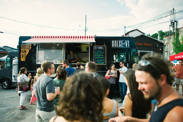 You can order the freshest food on wheels at the Truck Stop, essentially Burlington's Smorgasburg.