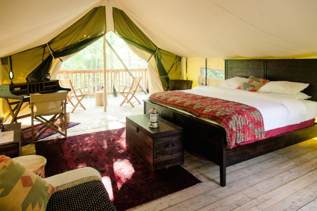 Go glamping before summer's over.