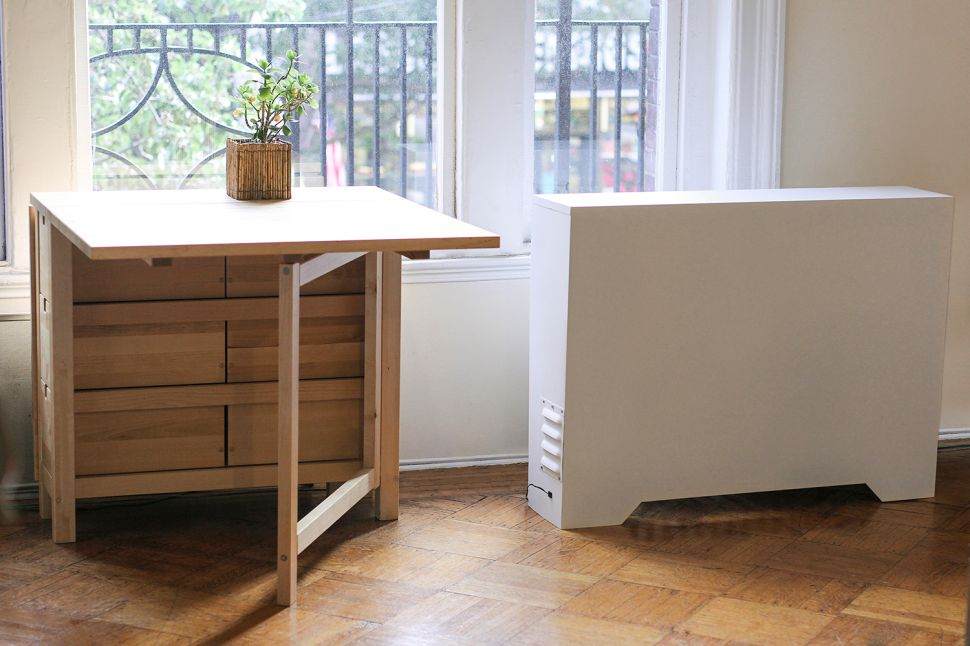 A radiator enclosed with the Cozy, from Radiator Labs.