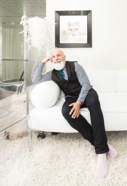 Benjamin Noriega Ortiz lounges at home