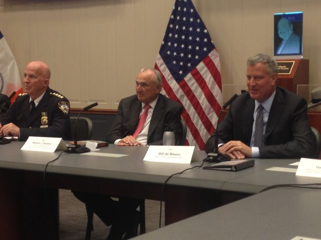 Chief of Department James O'Neill, Police Commissioner Bill Bratton and Mayor Bill de Blasio provide an update on crime in the city.