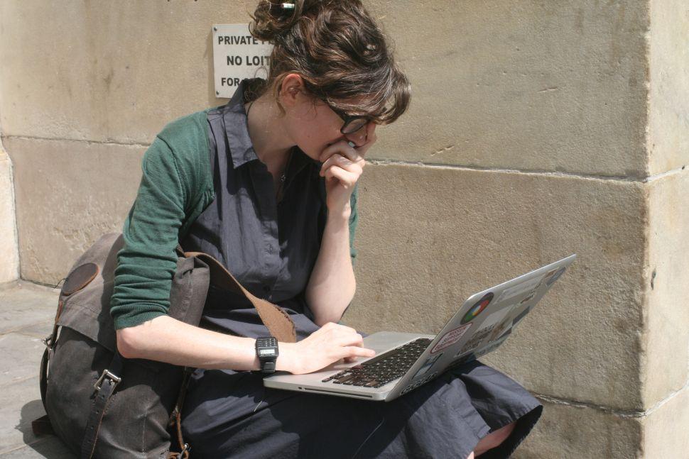 Ingrid Burrington, running a traceroute.