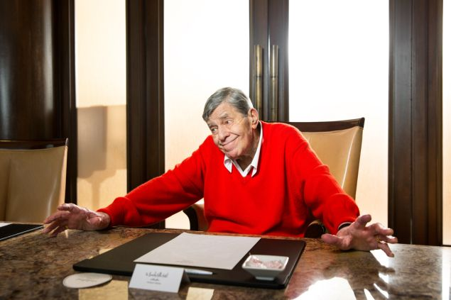 Actor Jerry Lewis at the Beverly Hills Hotel.