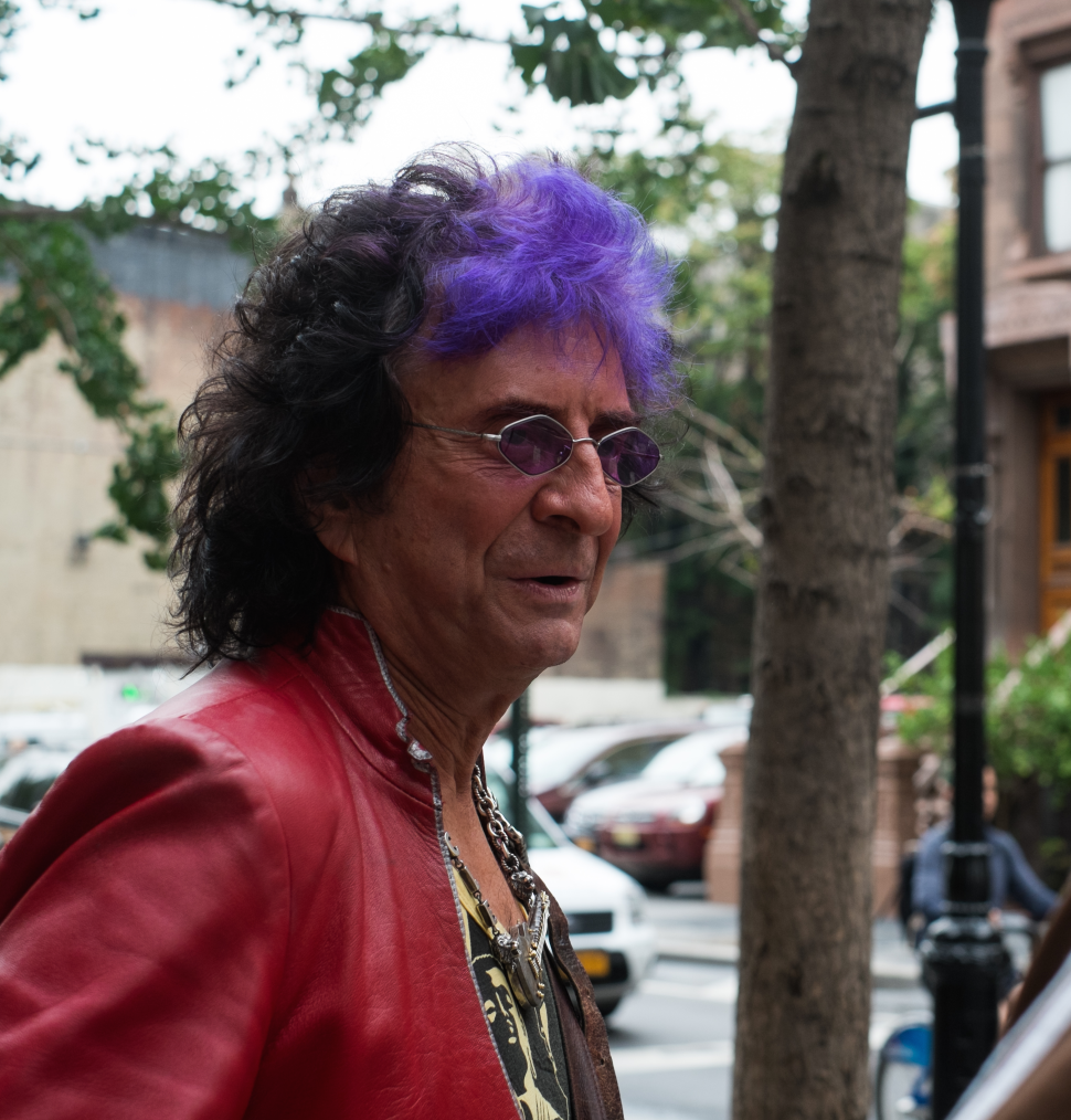 Master songwriter Jim Peterik displays the eye of the tiger on 46th St.