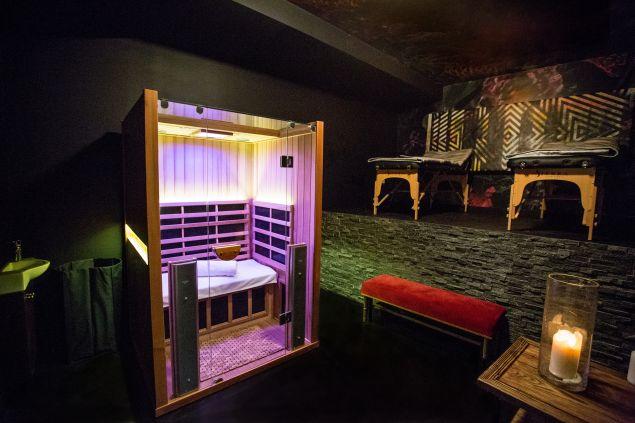 The infared sauna at HigherDose