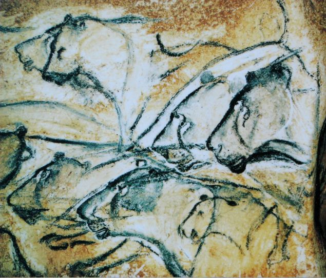 Interior of the Chauvet Cave.