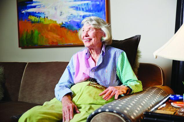 Gossip columnist Liz Smith, 93, in a friend's brownstone on the Upper East Side.