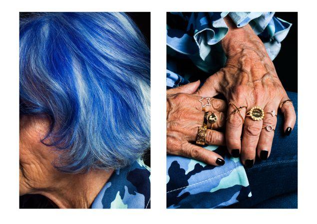 Blue hair and major attitude