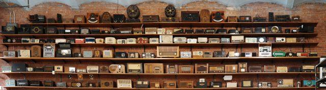Tekserve's antique radio collection.