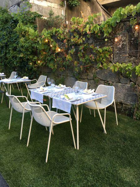 The back garden at Rosa Et Al