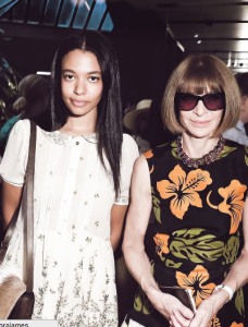 James poses with queen Anna Wintour.
